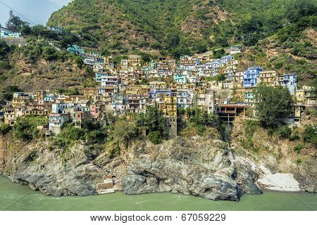 Colorful Houses In Mountains