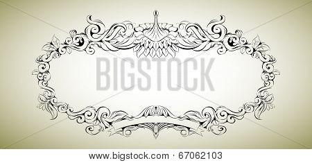 Vector frame with floral elements for registration 3
