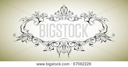 Vector frame with floral elements for registration 5