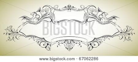 Vector frame with floral elements for registration 6