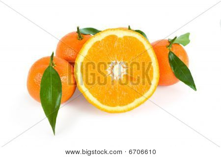 Tangerines And Half Of Orange