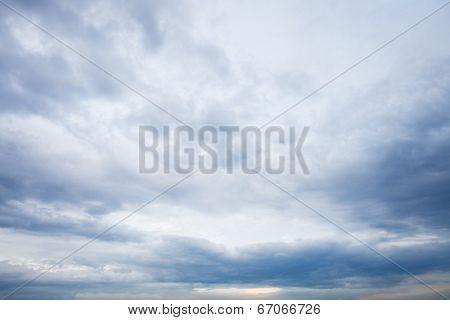 Grey Blue Clouds In Evening Sky