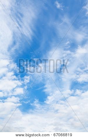 Cirrus And Cumuli White Clouds