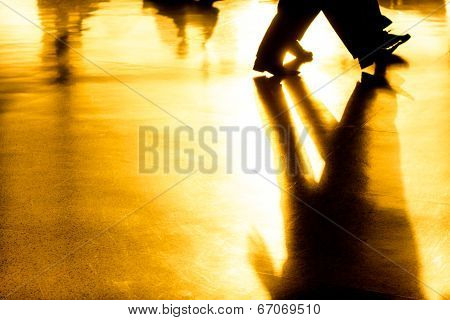 Abstract Shadows And Silhouettes Background
