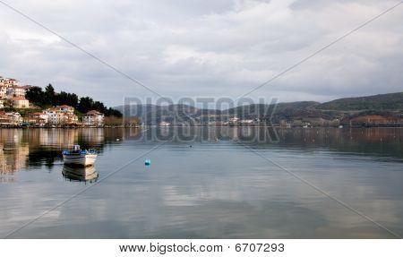 Paisaje de Grecia Kastoria