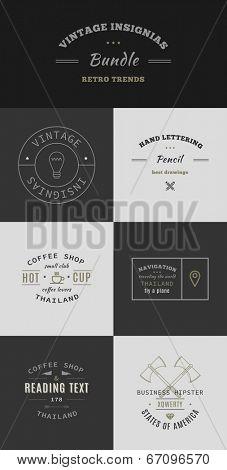 Trendy Retro Vintage Insignias Bundle
