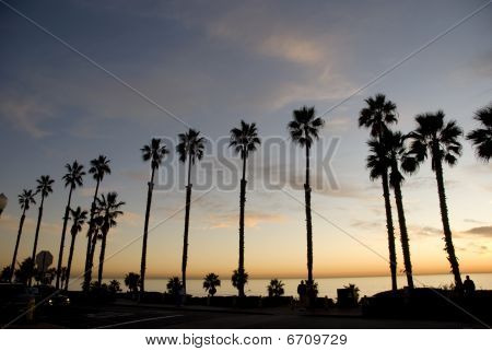Beautiful sunset in along the coast of California