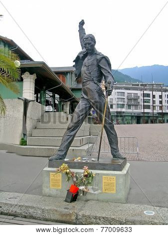 Statue of Freddie Mercury in Montreux, Switzerland