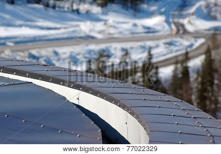 rounded tin roof