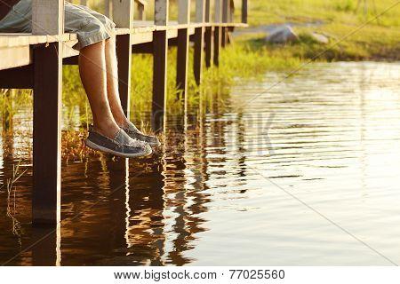 Legs-dangling