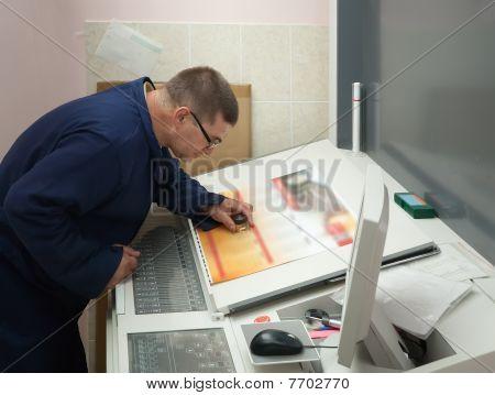 Printer Testing  A Print Run  With Lens