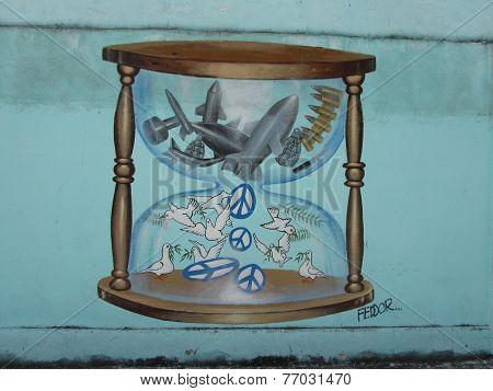 Humorists Against War, hourglass