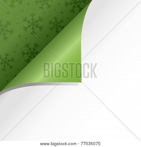 green christmas page fold
