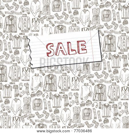 Females knitted clothing background.Sale