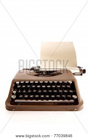 Portable Typewriter And Paper