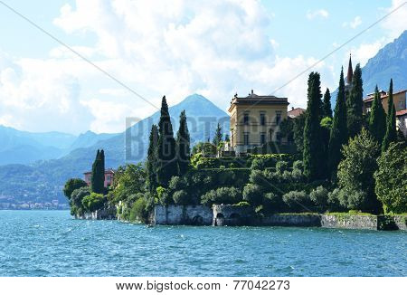 View to the lake Como from villa Monastero. Italy  poster