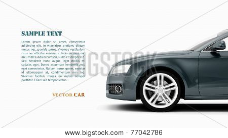 Generic Luxury Coupe Car Vector.