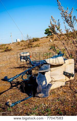 Trash In Shantytown - Abandoned Stroller