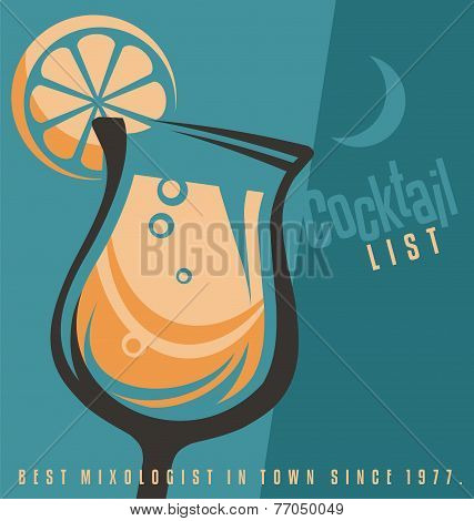 Cocktails List Cover Template