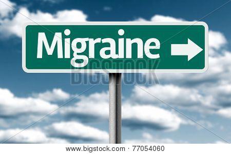 Migraine creative green sign