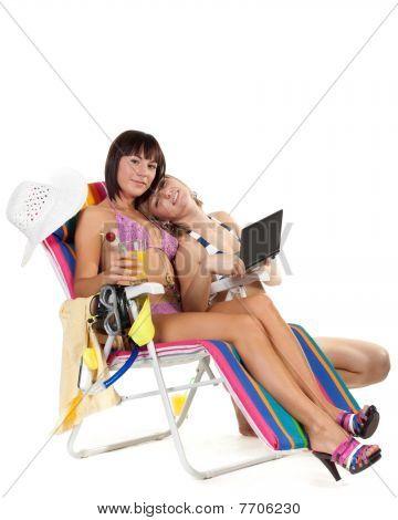 Having A Rest Girls