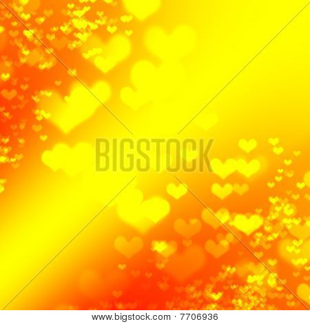 Abstract background hearts with gradient