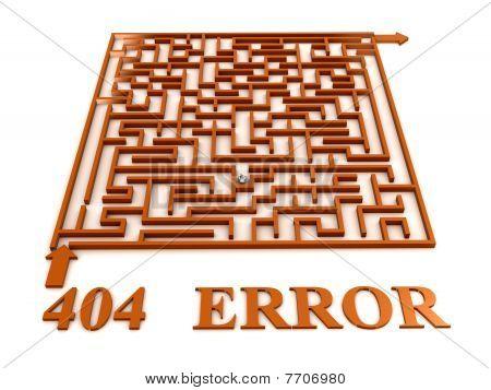 Maze Labyrinth With 404 Error