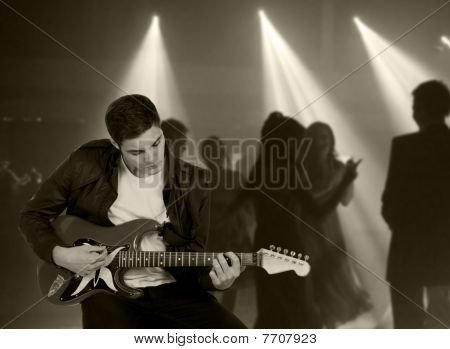 Retro Image Of Rock And Roll Icon
