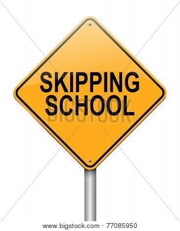 Skipping School Concept.