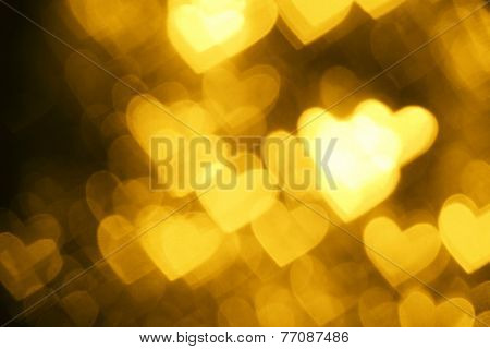 yellow heart shape holiday photo background