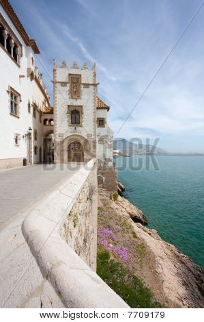 Sitges Coast And Maricel Museum (barcelona, Spain)