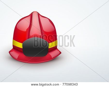 Light Background Red fireman helmet