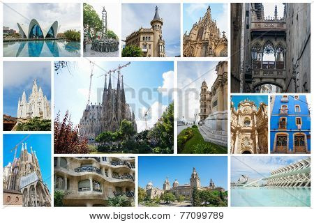 Set of Spanish attractions