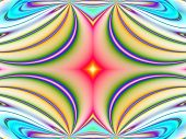Fractal forms image with color gradient effect and abstract forms and lines. poster