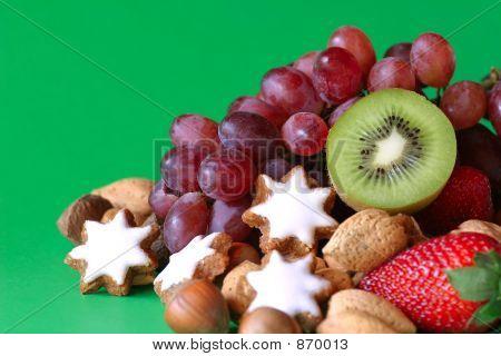 Festive Fruit & Cookies