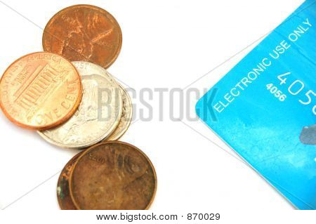 Credit Card And Coins #3