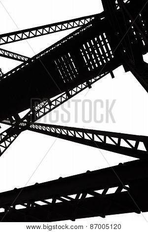Vertical Abstract Steel Girders