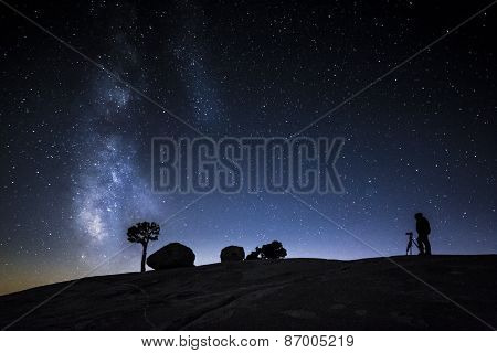 The Milky Way And A Photographer