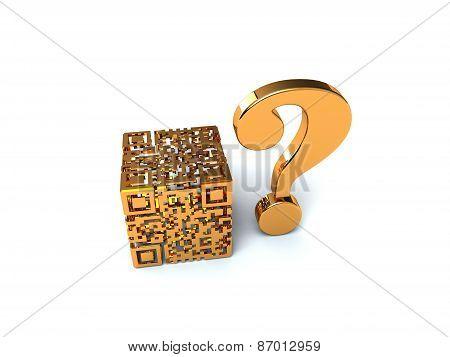 Gold QR cube