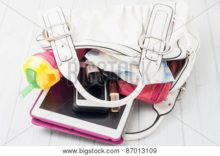 Contents Of A Woman's Bag