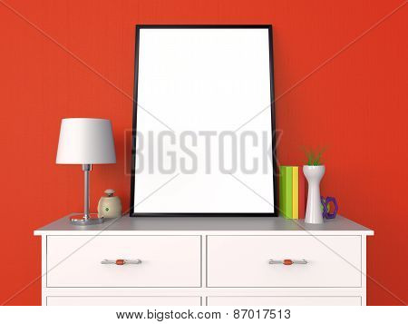 Blank Poster and Photo Frame Presentation 3D