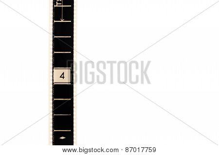 Number Four Countdown Movie Filmstrip Vertical And Copyspace