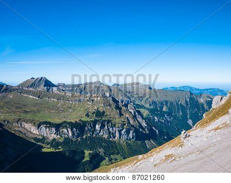 Panorama View Of The Alps Near Uri Rotstock