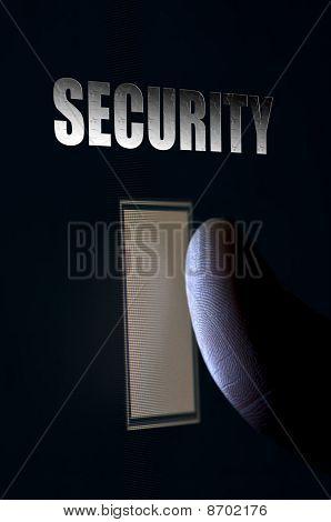 Fingerprint Security Scan Concept