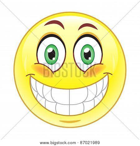 big Smile Emoticonrint