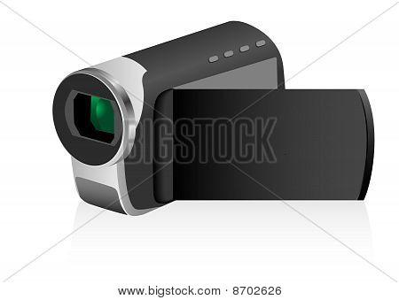 Illustration of a black video cam