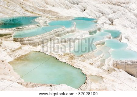 Mineral springs of Turkey Pamukkale, Wonder of the World poster