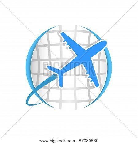 plane logo world