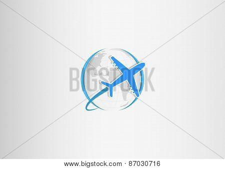 paper planet plane blue