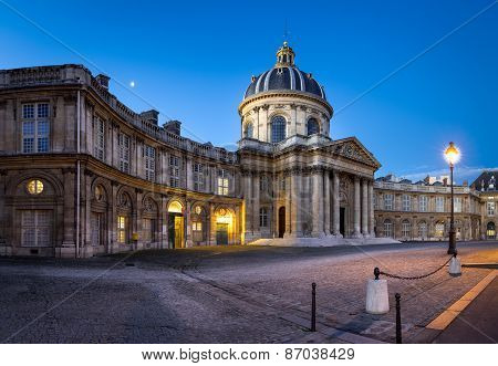 Courtyard Of The French Institute At Dawn, Paris, France